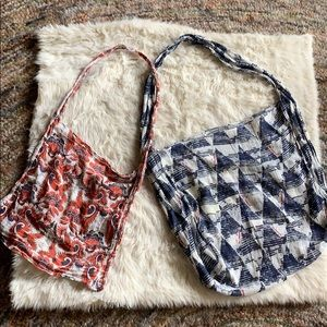 2 Free People reusable shopping bags